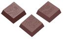 Chocolate World CW1593 Chocolate mould maya praline square 3 fig.