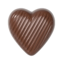 Chocolate World CW1599 Chocolate mould striped heart