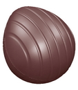 Chocolate World CW1606 Chocolate mould egg primitive striped 52 mm