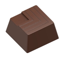 Chocolate World CW1607 Chocolate mould small block carved