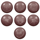 Chocolate World CW1615 Chocolate mould seaballs fossils 7 fig.