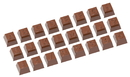 Chocolate World CW1628 Chocolate mould part 1 alphabet 24 fig.