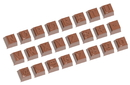 Chocolate World CW1629 Chocolate mould part 2 alphabet 24 fig.