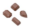 Chocolate World CW1632 Chocolate mould gems 4 fig.