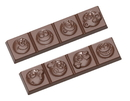 Chocolate World CW1649 Chocolate mould strip smiley 2 fig.