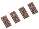 Chocolate World CW1650 Chocolate mould caraque smiley 4 fig.