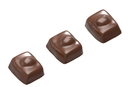 Chocolate World CW1651 Chocolate mould nut enrobed 3 fig.