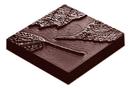Chocolate World CW1669 Chocolate mould cocoa leaf María Cienfuegos
