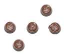 Chocolate World CW1671 Chocolate mould smiley praline 5 fig.