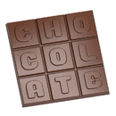 Chocolate World CW1685 Chocolate mould square tablet