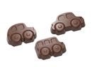 Chocolate World CW1693 Chocolate mould cars 3 fig.