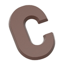 Chocolate World CW1702 Chocolate mould letter C 200 gr