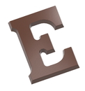 Chocolate World CW1704 Chocolate mould letter E 200 gr