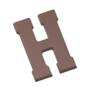 Chocolate World CW1707 Chocolate mould letter H 200 gr