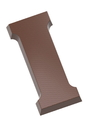 Chocolate World CW1708 Chocolate mould letter I 200 gr