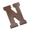 Chocolate World CW1713 Chocolate mould letter N 200 gr