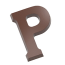 Chocolate World CW1715 Chocolate mould letter P 200 gr