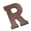 Chocolate World CW1717 Chocolate mould letter R 200 gr