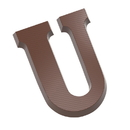 Chocolate World CW1720 Chocolate mould letter U 200 gr