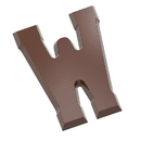 Chocolate World CW1722 Chocolate mould letter W 200 gr