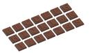 Chocolate World CW1742 Chocolate mould caraque part 1 alfabet 21 fig.