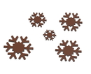 Chocolate World CW1770 Chocolate mould snowstars Callebaut cw 5 fig.