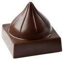 Chocolate World CW1793 Chocolate mould cube with dome