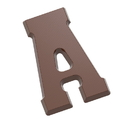 Chocolate World CW1800 Chocolate mould letter A 135 gr