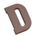Chocolate World CW1803 Chocolate mould letter D 135 gr