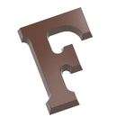 Chocolate World CW1805 Chocolate mould letter F 135 gr