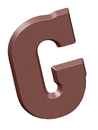 Chocolate World CW1806 Chocolate mould letter G 135 gr