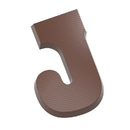 Chocolate World CW1809 Chocolate mould letter J 135 gr