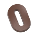 Chocolate World CW1814 Chocolate mould letter O 135 gr