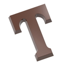 Chocolate World CW1819 Chocolate mould letter T 135 gr