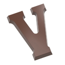 Chocolate World CW1821 Chocolate mould letter V 135 gr