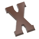 Chocolate World CW1823 Chocolate mould letter X 135 gr