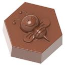 Chocolate World CW1858 Chocolate mould bee on hexagon