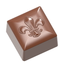Chocolate World CW1885 Chocolate mould square Fleur de Lys