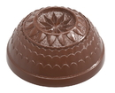 Chocolate World CW1900 Chocolate mould half sphère Belle Epoque star Ø 30 mm