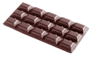 Chocolate World CW2016 Chocolate mould tablet 3x5 109 gr