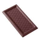 Chocolate World CW2018 Chocolate mould caraque rectangular checkered
