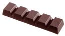 Chocolate World CW2019 Chocolate mould bar striped 44 gr