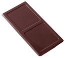 Chocolate World CW2031 Chocolate mould caraque rectangular smooth