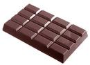Chocolate World CW2052 Chocolate mould tablet 4x4 460 gr