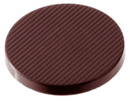 Chocolate World CW2054 Chocolate mould caraque round striped Ø 36 mm