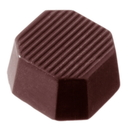 Chocolate World CW2058 Chocolate mould octagon striped