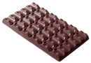 Chocolate World CW2073 Chocolate mould tablet 6x6 long 336 gr