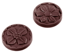 Chocolate World CW2079 Chocolate mould caraque flower Ø 29  2 fig.