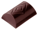 Chocolate World CW2084 Chocolate mould buche lozenge