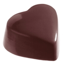 Chocolate World CW2087 Chocolate mould heart high flat